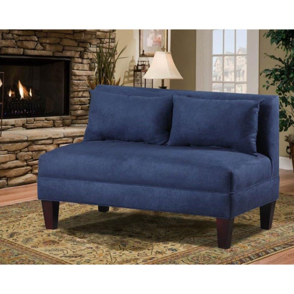 Briley Armless Loveseat- Navy, Midnight