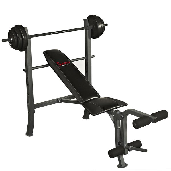Sunny Health & Fitness SF-BH6510 100-pound Weight Bench Set
