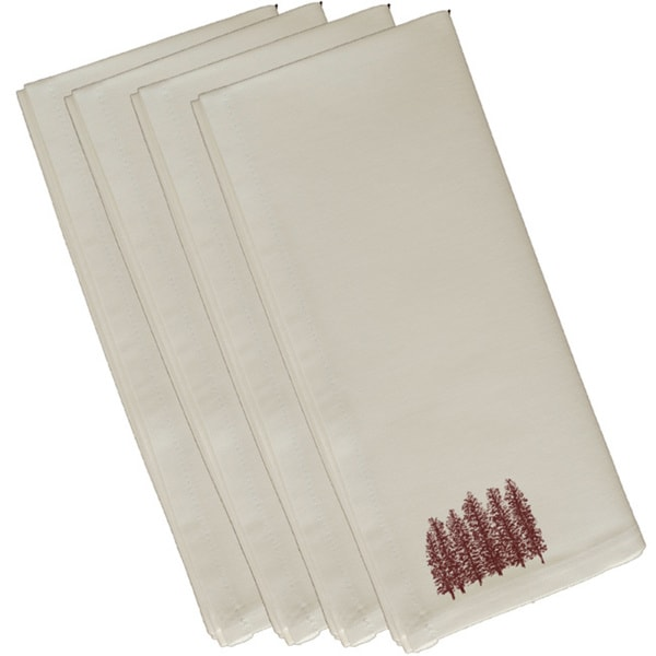 Cotton Brown 10x10 Through the Woods Floral Print Napkin