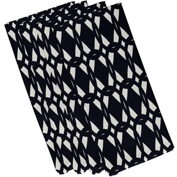 Cotton Navy Blue 10x10 Geo-Craze Geometric Print Napkin