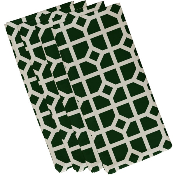 Cotton Teal 10x10 Don't Fret Geometric Print Napkin
