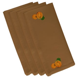 Cotton Brown 10x10 Pumpkin Patch Holiday Print Napkin