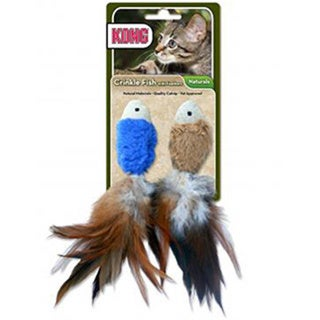 KONG Natural Crinkle Fish Cat Toy (2 Pack)