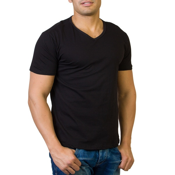 Agiato Apparel Men's Basic V-neck T-shirt