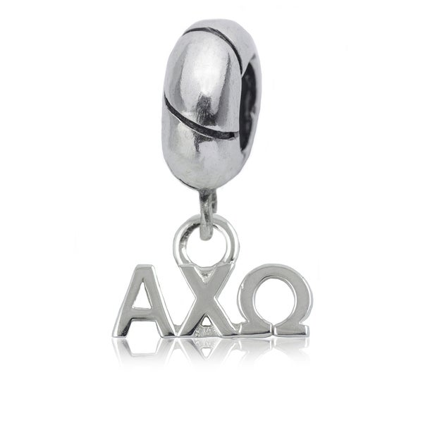 Alpha Chi Omega Sterling Silver Charm Bead