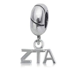 Zeta Tau Alpha Sterling Silver Charm Bead
