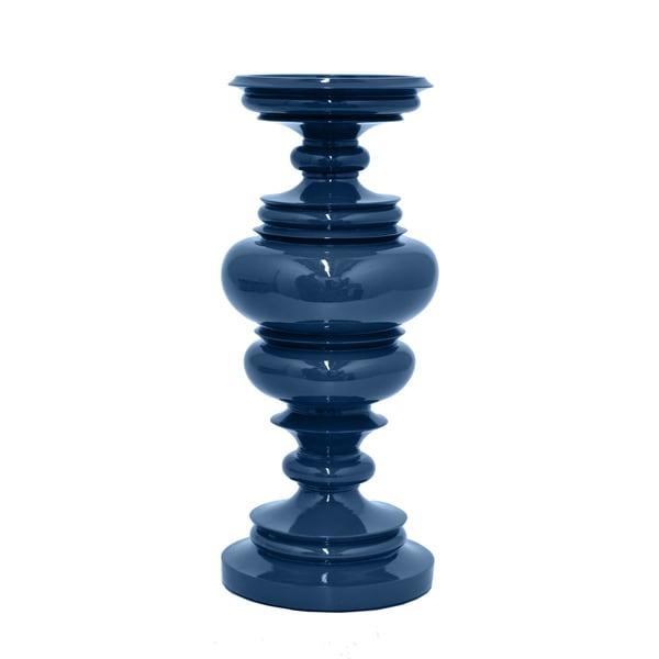 Resin Blue Candleholder