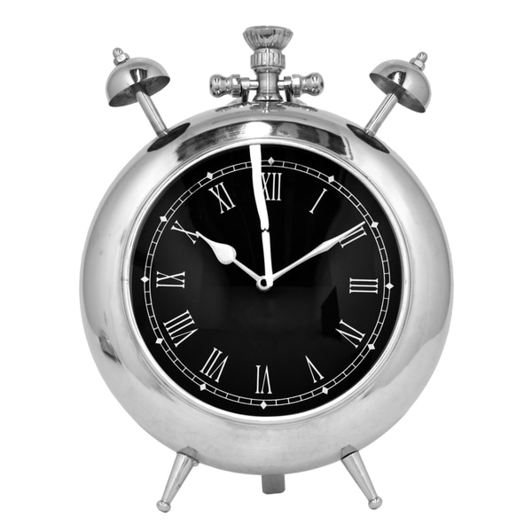 Silver-colored Table Clock