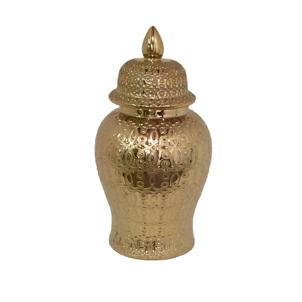 Golden-colored Temple Jar