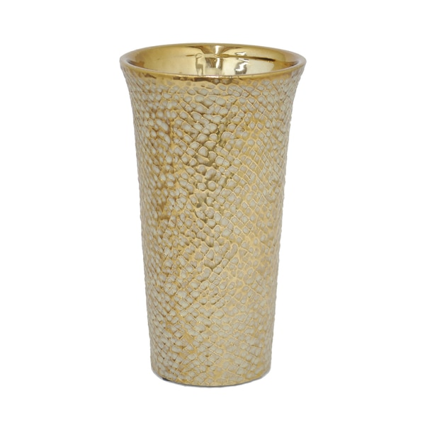 Gold-colored Ceramic Vase