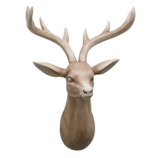 white porcelain wall mount deer head 16871603