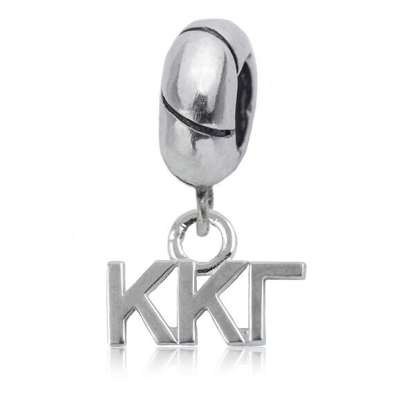 Kappa Kappa Gamma Sterling Silver Charm Bead