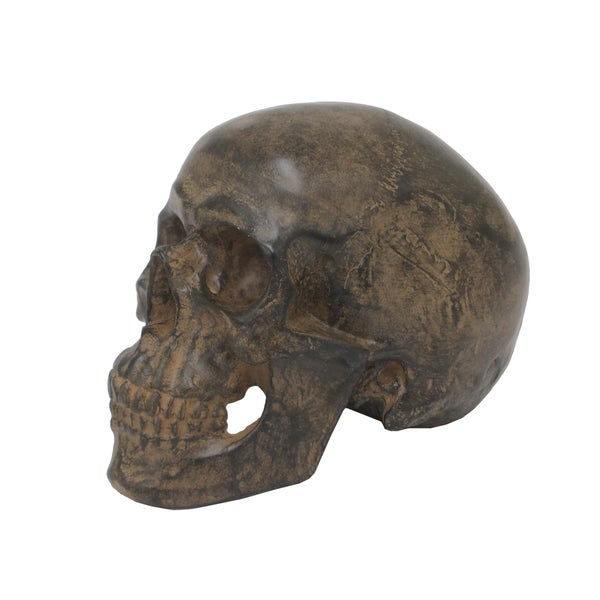Brown Resin Skull Money Bank