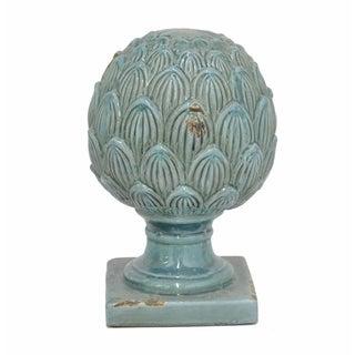 Blue Terracotta Finial Décor