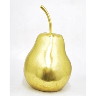 Three Hands Gold-Colored Resin Pear 16102981