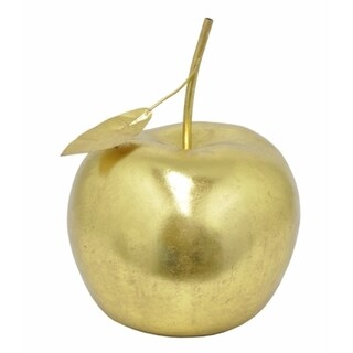 Gold-colored Resin Apple