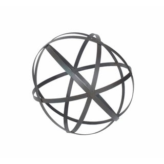 Grey Metal Orb Dcor