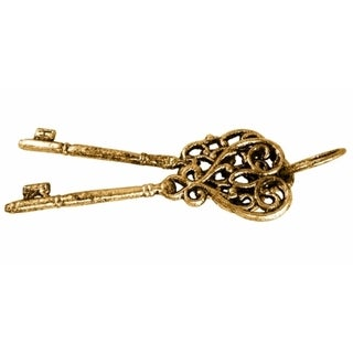 Antique Gold-colored Cast Iron Keys