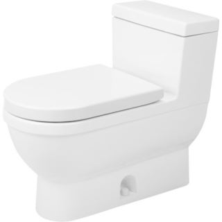 Duravit White Alpin Starck Elongated One Piece Toilet
