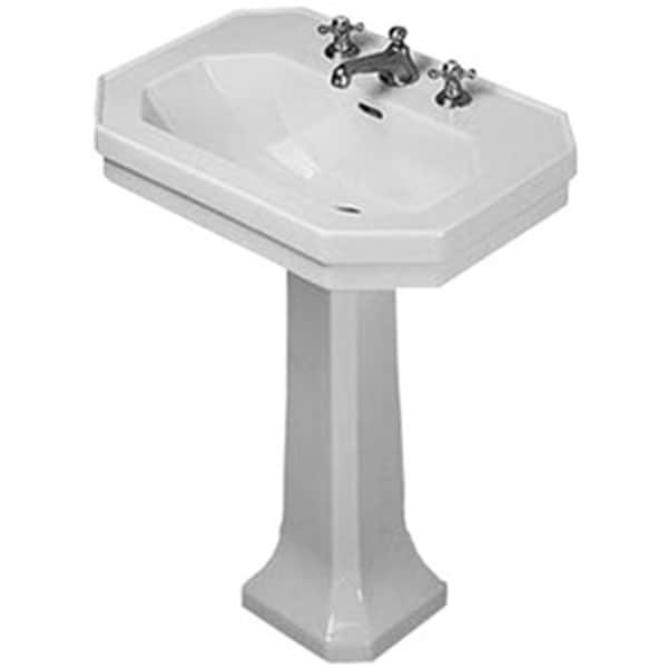 Duravit Pedestal Sink : Duravit White Alpin 1930 Series Pedestal Porcelain 16.13 23.63 ...