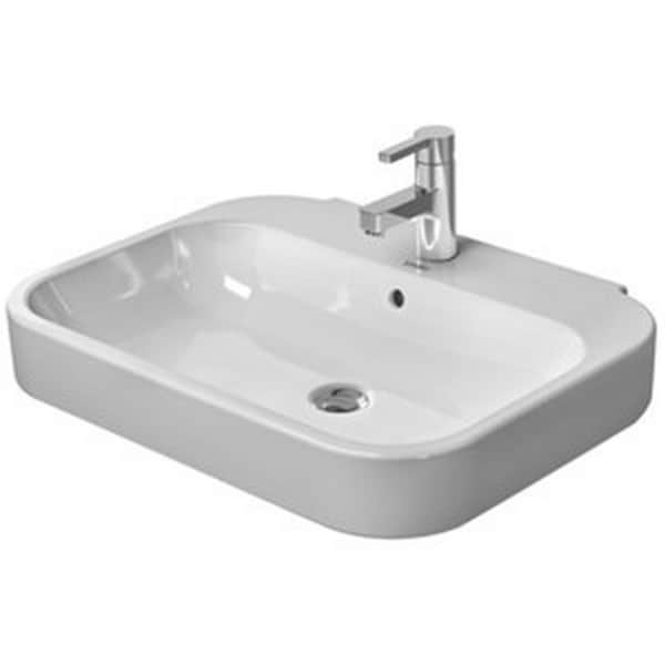 Duravit Pedestal Sink : Duravit White Alpin Happy D Pedestal/Shroud Porcelain Bathroom Sink ...