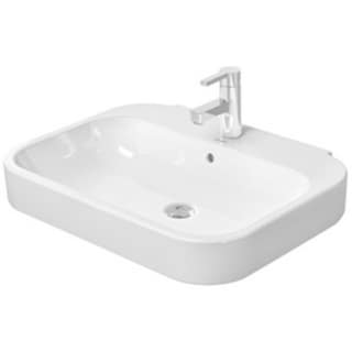Duravit White Alpin Happy D Pedestal/Shroud Porcelain Bathroom Sink