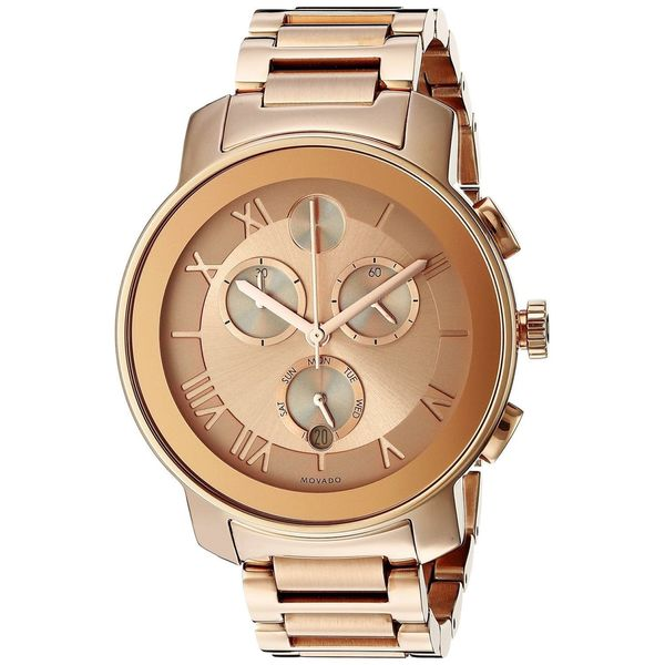 Movado Women's 3600210 Bold Round Rose Gold Ion-Plated Stainless Steel Bracelet Watch