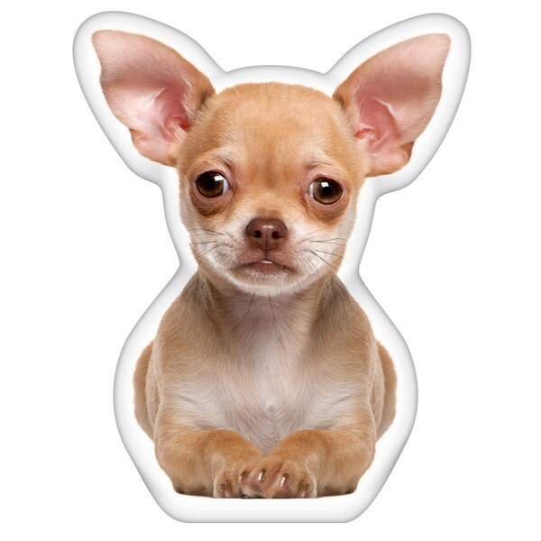 Chihuahua Fawn Shaped Pillow