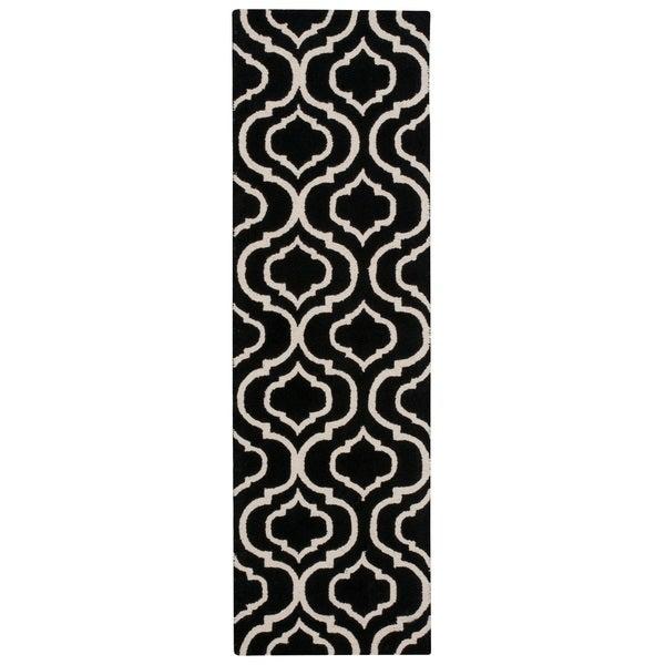 Nourison Linear Black White Runner Rug (2'3 x 7'6)
