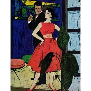 "Marmont Hill - ""Marriage Bait""by Morgan Kane Painting Print on Canvas"