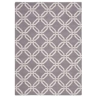 Nourison Linear Silver Rug (7'6 x 9'6)