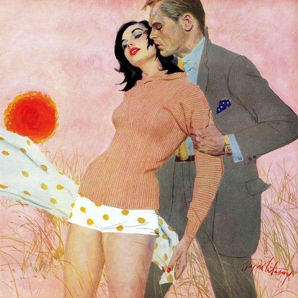 """Marmont Hill - """"The Lady and the Landlord"""" by Coby Whitmore Painting Print on Canvas"""