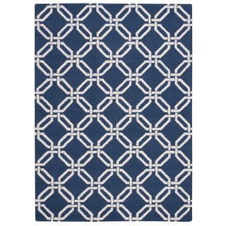 Nourison Linear Navy Rug (8' x 11')