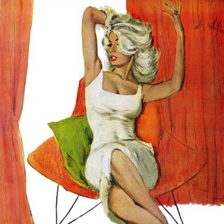 "Marmont Hill - ""Mother is a Movie Queen"" by Coby Whitmore Painting Print on Canvas"