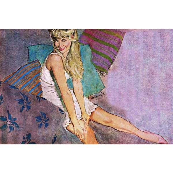 "Marmont Hill - ""The Lady Who Played a Fool"" by Coby Whitmore Painting Print on Canvas"