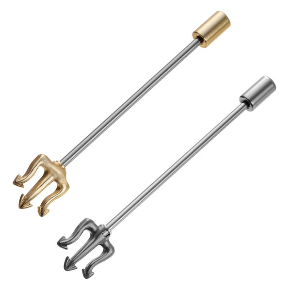 Misbehave Stainless Steel Trident Industrial Barbell Set