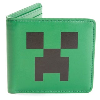 licensed Creeper Face Leather Wallet