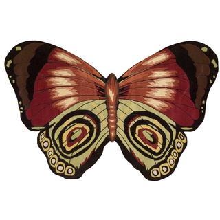 Nourison Butterfly Orange Rug (4' x 6')