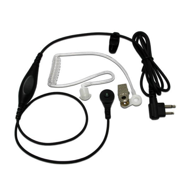 MaximalPower 1-wire Surveillance Headset Earpiece with Waterproof PTT Mic for Motorola M1 2-pin Radios