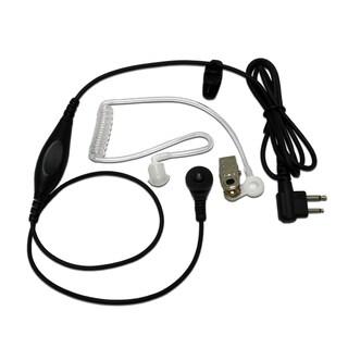 MaximalPower 1-wire Surveillance Headset Earpiece with Waterproof PTT Mic for Motorola M1 2-pin Radios