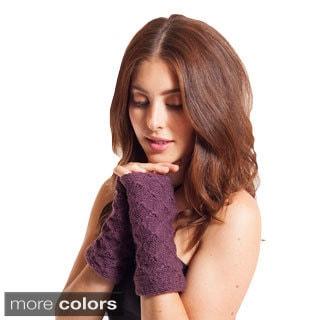 Diamond Pattern Knit Wool Arm Warmer (Nepal)
