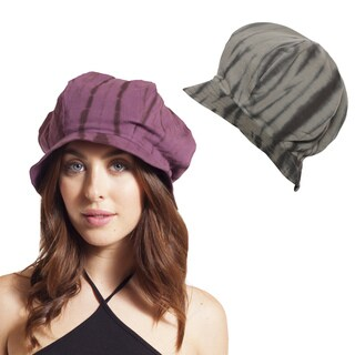 Funy Tie-dye Organic Cotton Cloche Hat (Nepal)