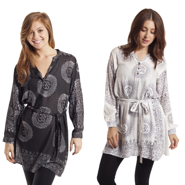 Om Burst Long Sleeve Kurta Top (Nepal)