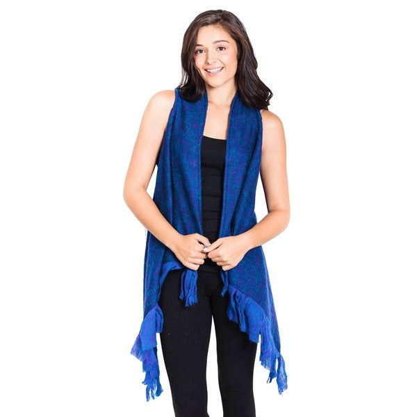 Fringed Waterfall Wool Vest (Nepal)