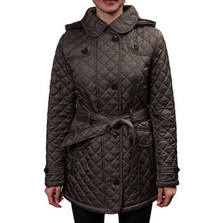 Braetan Women's Button Front Quilted Jacket With Hood