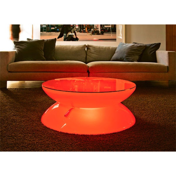 Contempo Lights LED Rechargeable Livorno Table with Color-changing Remote Control