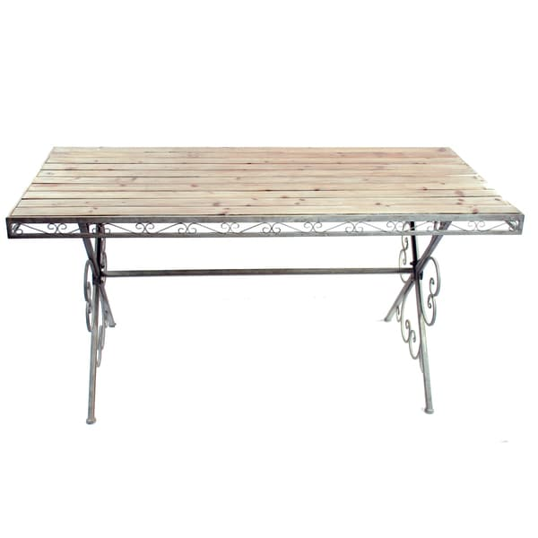 White-washed Wood Table
