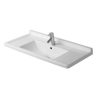 Duravit White Alpin Starck Drop In/Self Rimming Porcelain Bathroom Sink