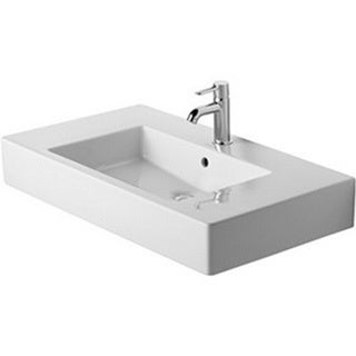 Duravit White Alpin Vero Vessel Porcelain 19.34 33.47 Bathroom Sink