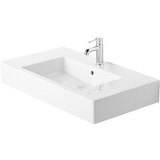 Duravit White Alpin Vero Vessel Porcelain 19.34 33.47 Bathroom Sink